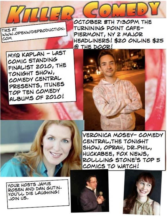 Myq Kaplan and Veronica Mosey Sat 10/08/2011 7:30