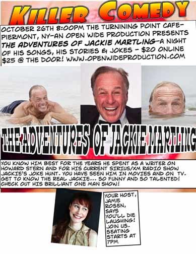 Killer Comedy Jackie Martling Fri. 10/26/2012 8:00