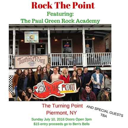 Paul Greens Rock Academy Rock the Point  SUN  07/10/2016 4pm