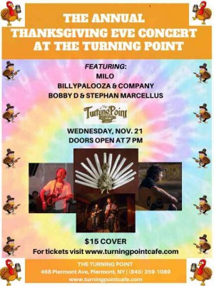 Billy Palozza , The Bobby DiBlasio Band and Milo   Wed 11/21/2018 7:30pm
